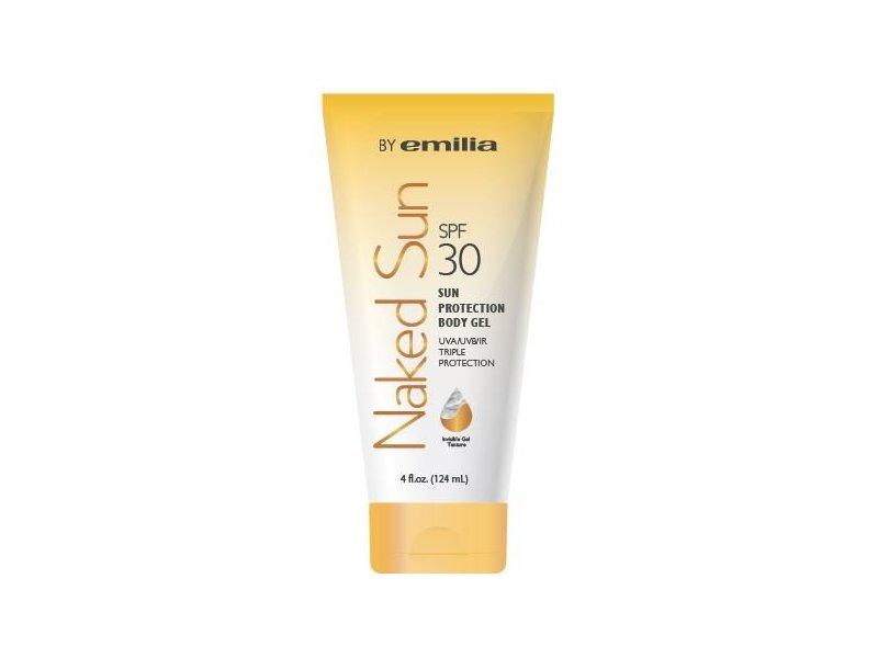 Emilia Naked Sun Sunscreen, SPF 30, Invisible Body Gel, 4
