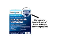 Basic Care Minoxidil Topical Solution USP, 5% Hair Regrowth Treatment for Men, 12.0 fl oz - Image 3