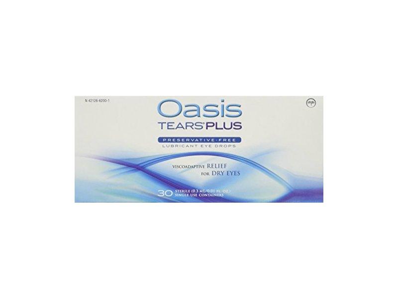 Oasis Tears Plus Preservative-Free Lubricant Eye Drops,0.01 fl oz (Pack of 30)