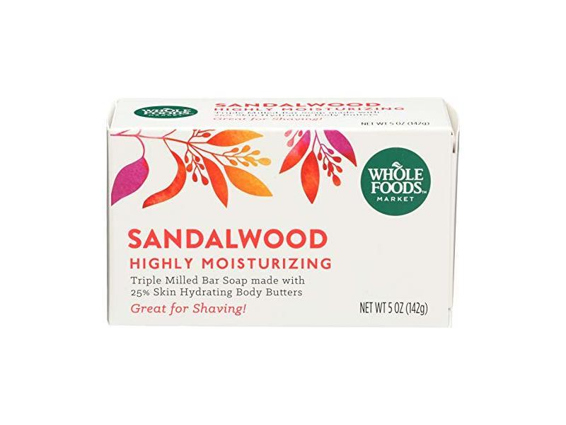 Whole Foods Market Sandalwood Triple Milled Bar Soap, 5 oz