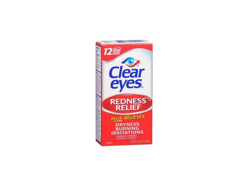 Clear Eyes Redness Relief Lubricant Eye Drops, 0.5 fl oz
