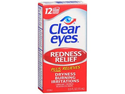 Clear Eyes Redness Relief Lubricant Eye Drops, 0.5 fl oz