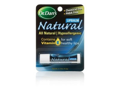 Dr. Dan's Natural Lip Balm, .14 oz