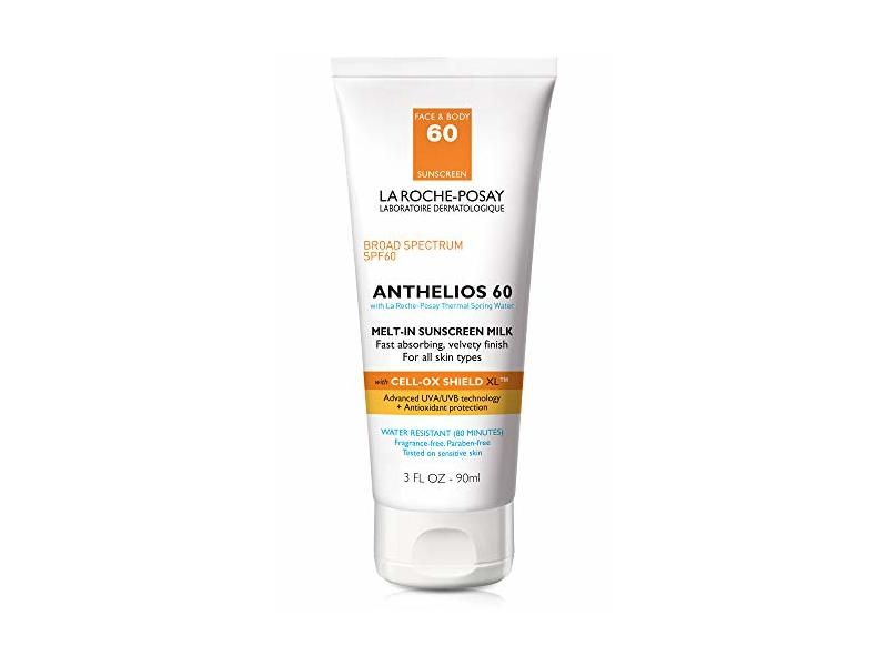 La Roche-Posay Anthelios Melt-In Sunscreen Milk Body & Face Sunscreen Lotion Broad Spectrum SPF 60, 3 oz