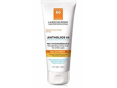 La Roche-Posay Anthelios Melt-In Sunscreen Milk Body & Face Sunscreen Lotion Broad Spectrum SPF 60, 3 oz