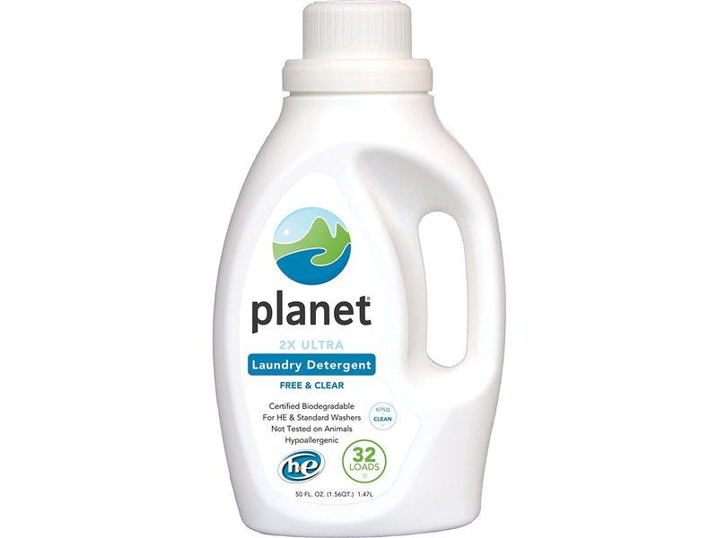 Planet 2X HE Ultra Liquid Laundry Detergent, Free & Clear, 50 fl oz/1.47 L