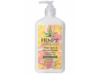 Hempz Energizing Herbal Body Moisturizer, Pink Citron & Mimosa Flower, 17 fl oz/500 mL
