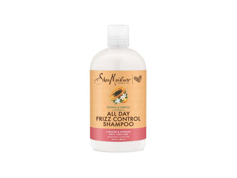 Shea Moisture All Day Frizz Shampoo, Papaya & Neroli, 13 fl oz/384 mL