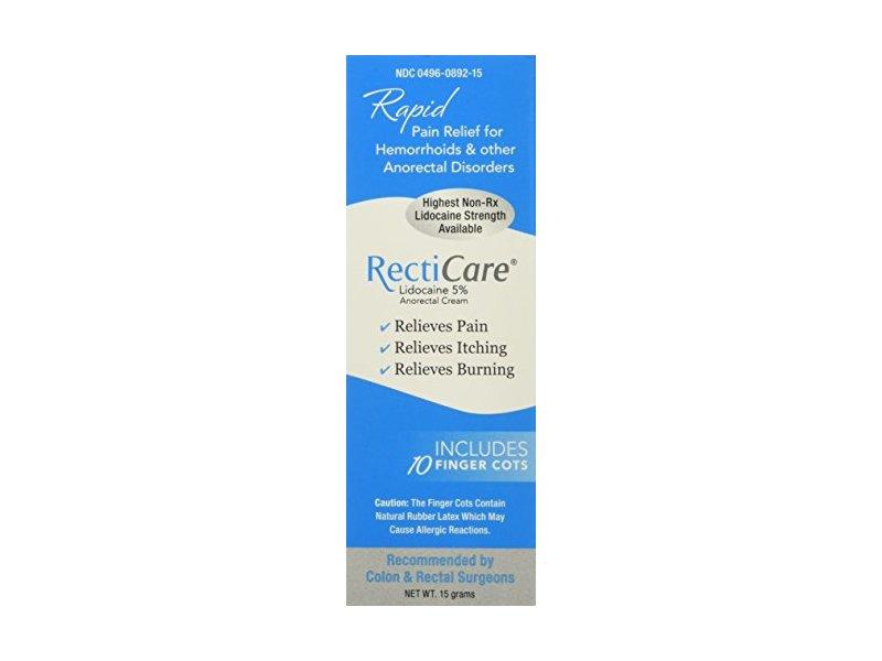 Recticare Anorectal Lidocaine 5% Numbing Cream, .5 Oz