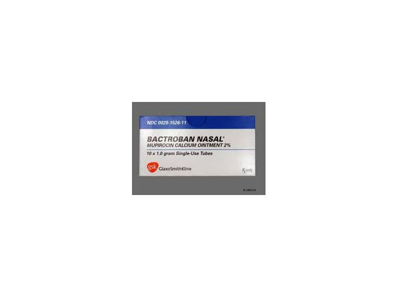 Bactroban Nasal Ointment, 2% (RX) 1Gram, Glaxo-Smith-Kline