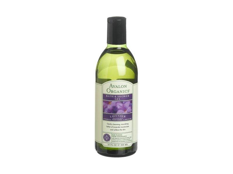 Avalon Organics Bath & Shower Gel, Nourishing Lavender, 12 fl oz