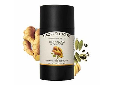 Each & Every Natural Aluminum-Free Deodorant, Cardamom & Ginger, 2.5 Oz.