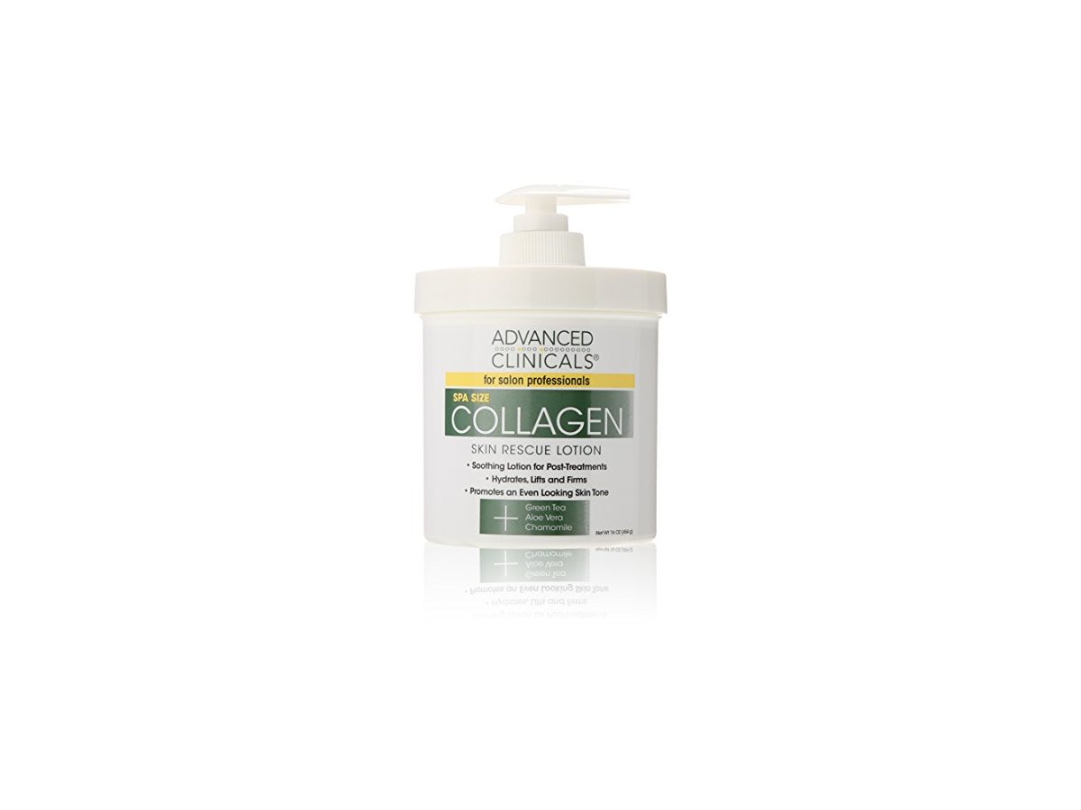 Advanced Clinicals Collagen Skin Rescue Lotion 16 Oz