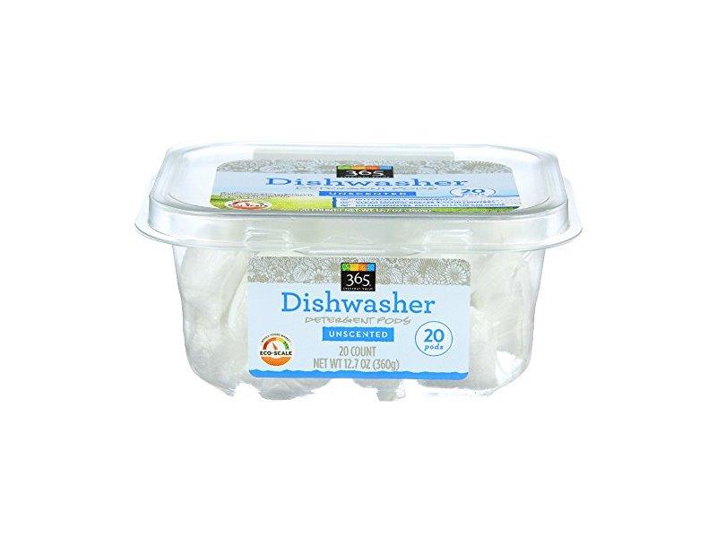 365 Everyday Value, Dishwasher Detergent Packs, Unscented, 20 ct