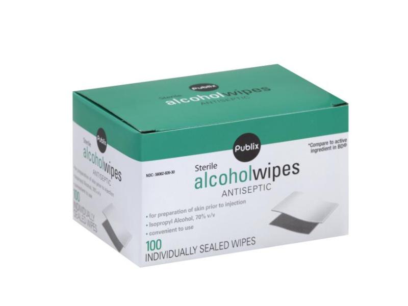 Publix Sterile Alcohol Wipes, 100 count