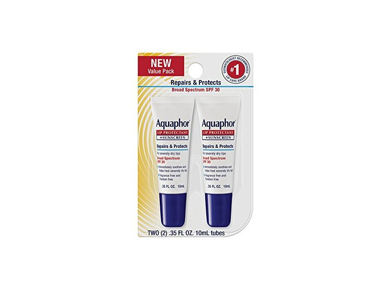 Aquaphor Lip Repair & Protect Tube Blister Card Dual Pack, 0.35 oz