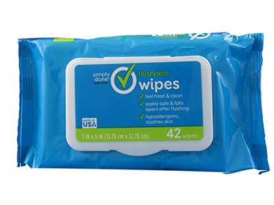 Simply Done Flushable Wipes, 42 ct