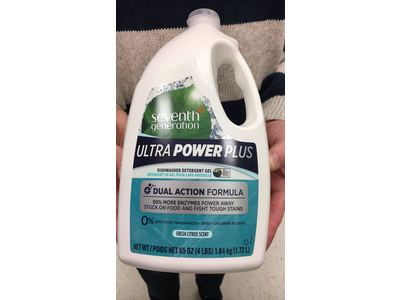 Seventh Generation Ultra Power Plus Natural Auto Dish Gel, Fresh Scent, 65 Ounce - Image 3