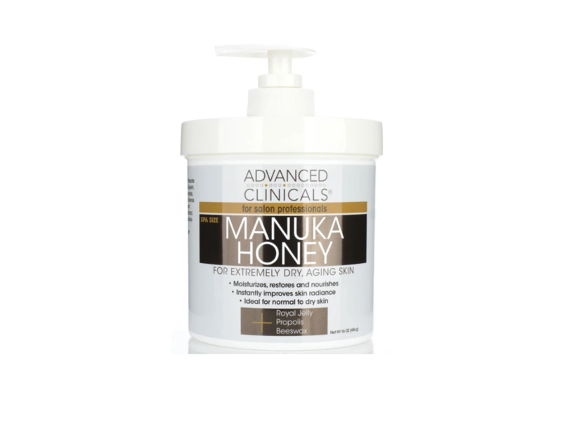 Advanced Clinicals Manuka Honey Cream, 16 fl oz/454 g