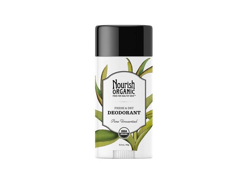 Nourish Organic Deodorant, Pure Unscented, 2.2 Ounce