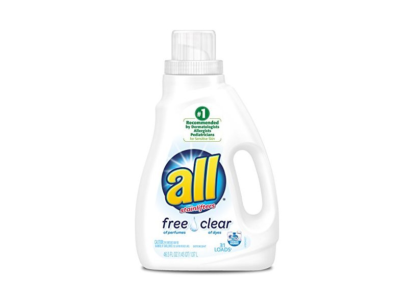 All Free Clear Liquid Laundry Detergent with Stainlifters, 46.5 fl oz (2 Count)