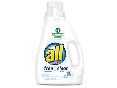 All Free Clear Liquid Laundry Detergent with Stainlifters, 46.5 fl oz (2 Count) - Image 1