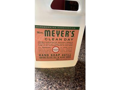 Mrs. Meyer'S Hand Soap Liquid Refill, Geranium, 33 fl oz - Image 3