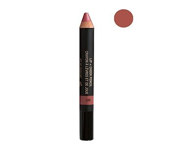 NUDESTIX Lip & Cheek Pencil, Sin, 0.05 oz - Image 1