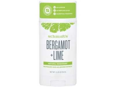 Schmidt's Deodorant Bergamot + Lime Deodorant Stick, 3.25 oz