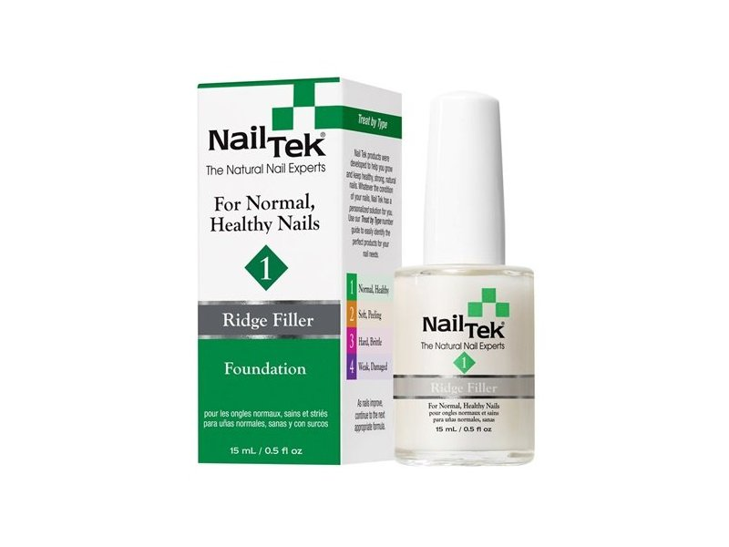 Nail Tek Foundation 1 Ridge Filler, 0.5 fl oz