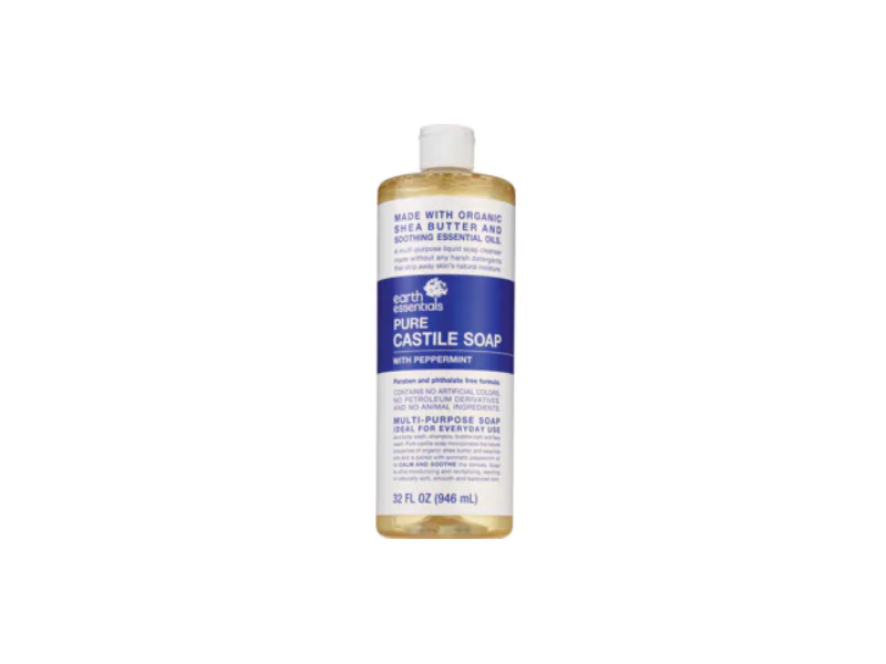 Earth Essentials Pure Castile Soap with Peppermint, 32 fl oz