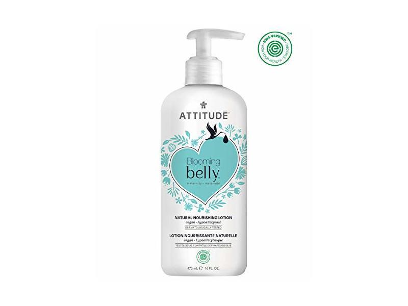 Attitude Blooming Belly Lotion, Argan, 16 fl oz