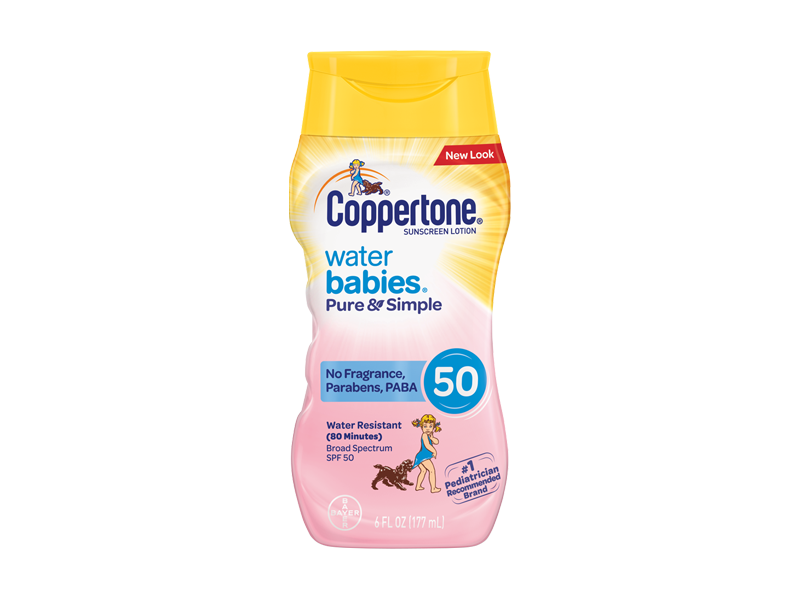 Coppertone Water Babies Pure & Simple Sunscreen Lotion SPF 50