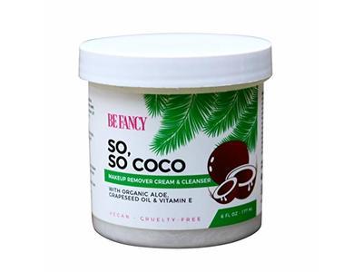 Be Fancy So, So Coco Makeup Remover Cream & Cleanser, Coconut Oil, Aloe, Vitamin E, 6 fl oz / 177 mL