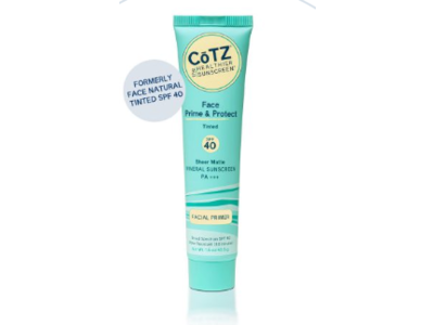 CoTZ Face Prime & Protect SPF40 Mineral Sunscreen, Tinted, 1.5 oz