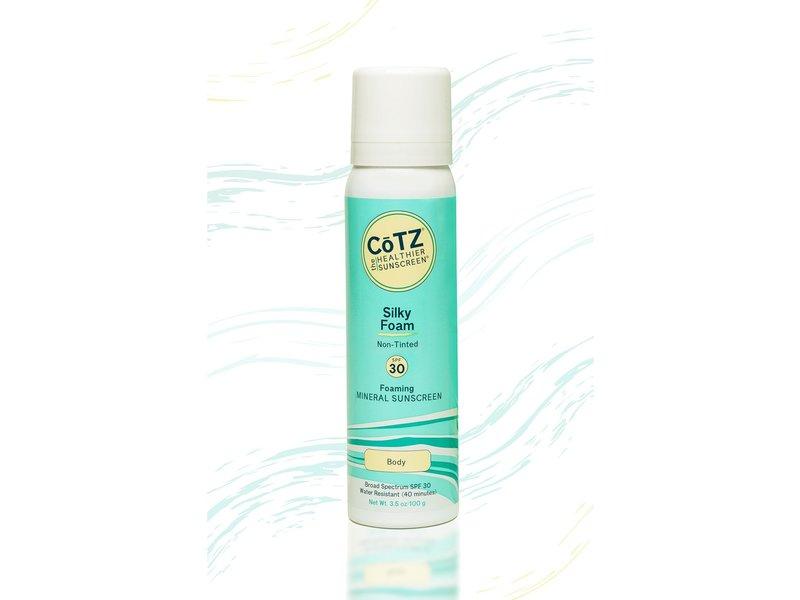 CoTZ Silky Foam Non-Tinted SPF30 Mineral Sunscreen, 3.5 oz (100 g)