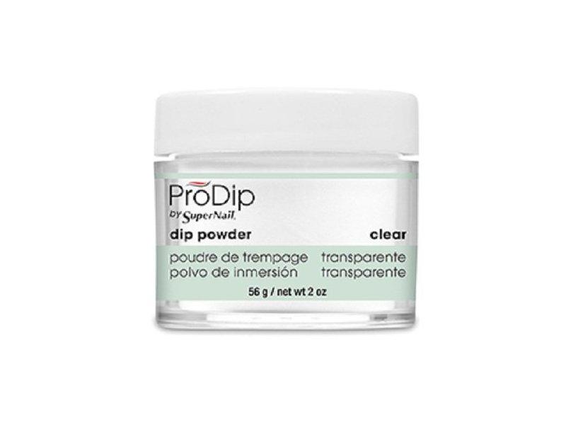 Supernail Prodip French Acrylic Dip Powder, Clear, 2 oz