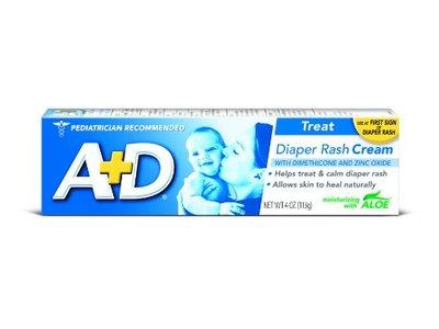 Bayer A&D Zinc Oxide Diaper Cream, 4 OZ (113 g)