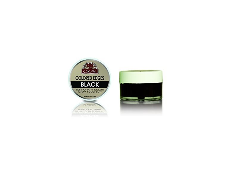 Okay Pure Naturals Colored Edges Temporary Color, Black, 0.50 oz