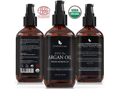 Organic Moroccan Argan Oil for Hair, Face, Skin, Nails (4oz)