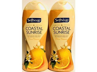 Softsoap Moisturizing Body Wash, Coastal Sunrise with Citrus Blossom, 15 fl oz