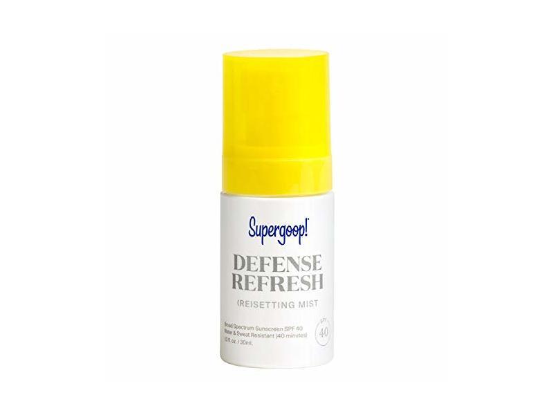 Supergoop! Defense Refresh (Re) Setting Mist SPF 40, 1 fl oz