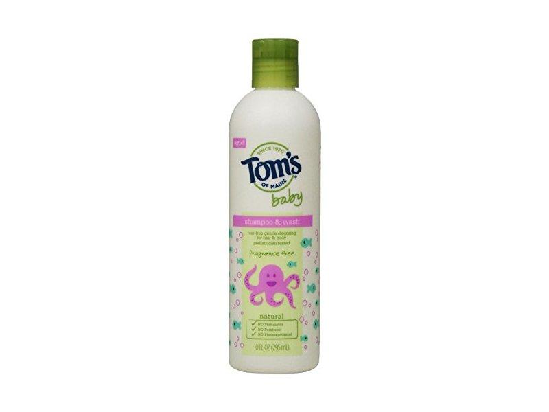 Tom's of Maine Baby Shampoo & Wash - Fragrance Free - 10 oz
