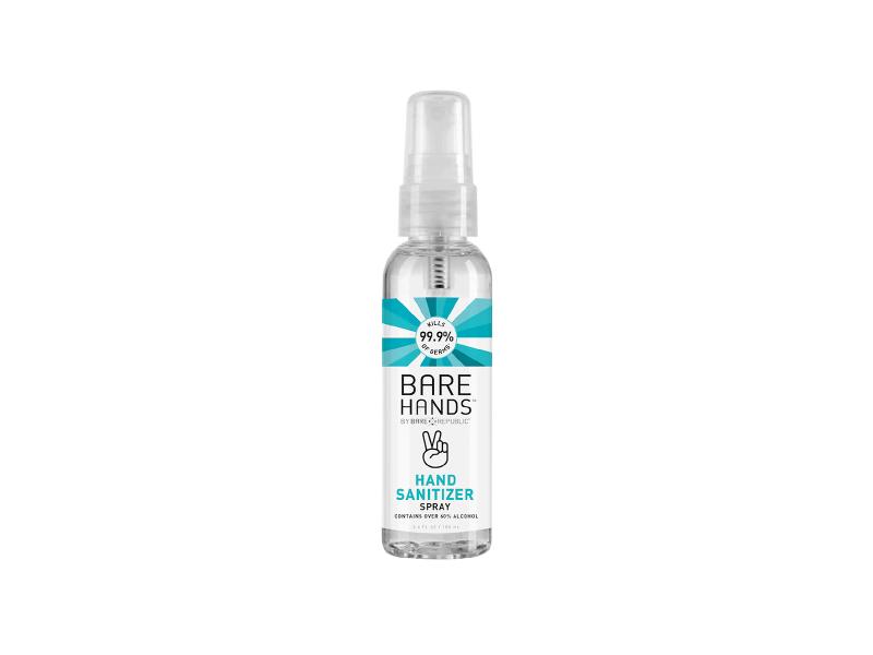 Bare Republic Hands Sanitizer Spray, 3.4 fl oz/100 mL, Pack Of 3
