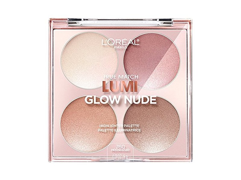 L'Oreal True Match Lumi Glow Nude Highlighter Palette, #760 Moonkissed, 0.26 oz
