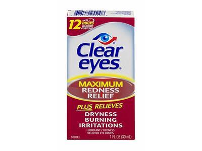 Clear Eyes Maximum Redness Relief Eye Drops, 1 FL OZ