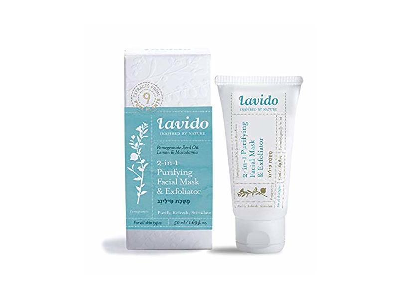 Lavido 2-In-1 Purifying Facial Mask & Exfoliator, 1.69 fl oz / 50 ml