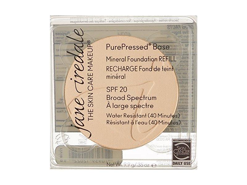 Jane Iredale Purepressed Base Mineral Foundation Refill SPF20, Warm Silk, 0.35 oz/9.9 g
