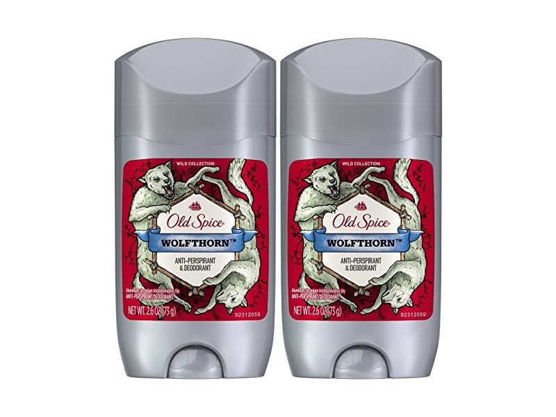 Old Spice Wild Collection Invisible Solid Antiperspirant Deodorant, Wolfthorn, 2.6 Ounce