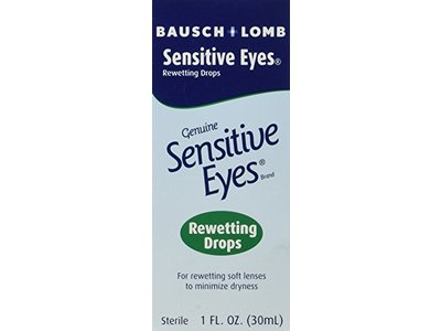 Bausch & Lomb Sensitive Eyes Rewetting Drops, 1-Ounce - Image 1